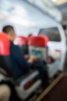 Airplane blur background
