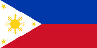 Fahne der Philippinen - Colored flag of the Philippines