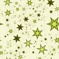 Seamless Print Stylized Stars