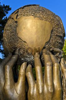 Skulptur Gedanken und Wünsche, Vereinte Nationen, UNO, Ariana Park, Palais des Nations,Genf,Schweiz
