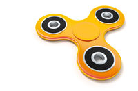orange fidget spinner
