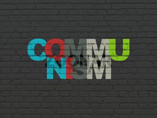 Politics concept: Communism on wall background