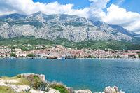 Makarska Town at Makarska Riviera in Dalmatia,adriatic Sea,Croatia