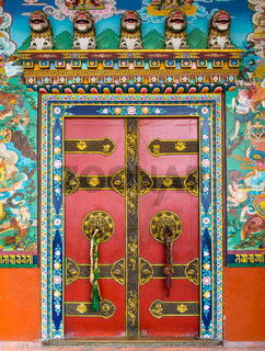 Buddhist monastery door
