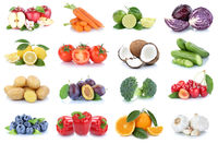 Obst und Gemüse Früchte Sammlung Äpfel, Orangen Paprika Essen Freisteller