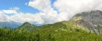 panorama of german alps