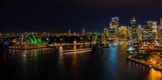 Nighttime Cityscape of Sydney Harbour