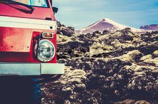 Glacier Truck In Iceland