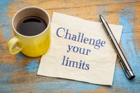 Challenge your limits motivational advice or reminder