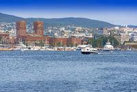 View of Oslo Radhuset Norway