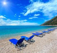 Summer sunshiny pebbly beach.