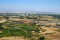 View from the Mdina to the countryside surrounding the old capital. Malta