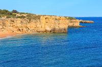 Atlantic rocky coastline(Algarve, Portugal).