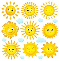 Abstract sun theme collection 4