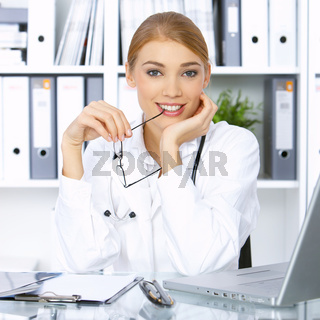 Female doctor in surgery