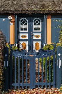 Eingang zum Reetdachhaus