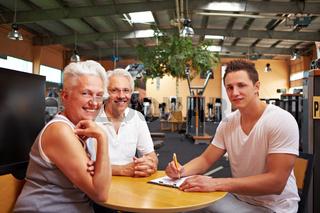 Senioren lassen Trainingsplan erstellen