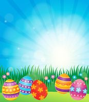 Decorated Easter eggs theme image 6