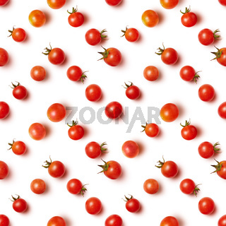 flat lay of beautiful trendy seamless pattern cherry tomato