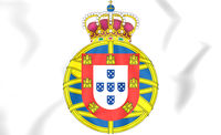 United Kingdom of Portugal, Brazil and the Algarves coat of arms. 3D Illustration.