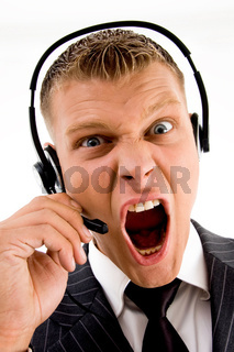 frustrated customer complaining and shouting on phone call