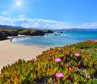 Atlantic sandy Islas beach (Spain).