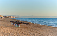 Early morning on the beach of La Mata. Spain