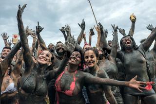 Bloco da Lama - Dirty Mud Carnival in Paraty, Rio de Janeiro State, Brazil