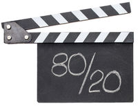 Pareto principle, eighty-twenty rule on clapboard