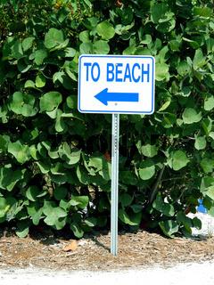 Weg zum Strand - Way to the beach