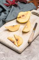 Quince fruit parts