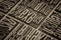 lettepress wood type blocks