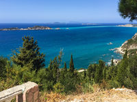 Look from Afionas to the mediterrean sea, Greece, Corfu