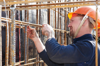 builder working at construction site