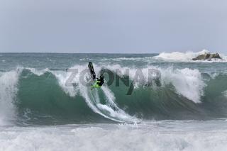 Jet Ski Stunts, Atlantischer Ozean, Portugal, Europa