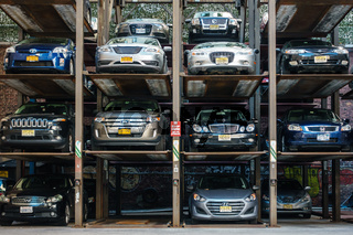 Automated multi-storey car park in New York.