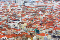 Nazare top view (Portugal).