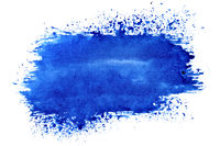 Blue expressive brush stroke