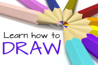 some color pencils with text learn how to draw