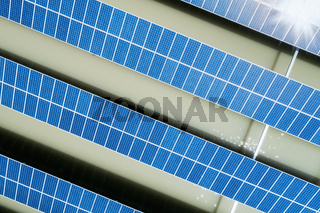 solar panel on the surface of water