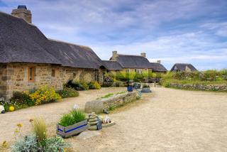 Dorf Meneham in der Bretagne, Finistere in Frankreich - village Meneham  in Finistere in Brittany, France