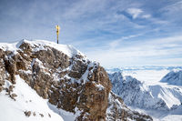 The peak of the Zugspitze
