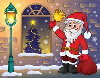 Santa Claus on sidewalk theme 1