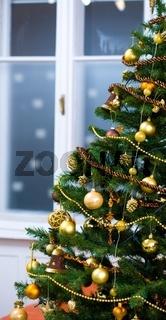 Ornaments on Christmas tree