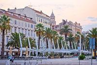 Split Riva waterfront morning view