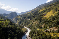 Mountain landscape in Annapurna Region, Nepal