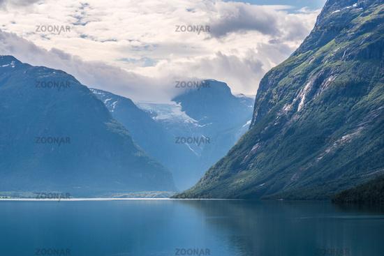 At the glacier lake in Norway