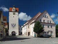 Isny im Allgäu, Water-Gate-Tower, coat of arms