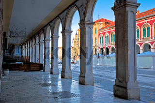 Prokurative square of Split arcades view