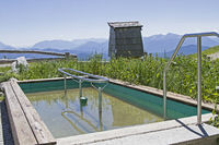 High alpine Kneipp pool